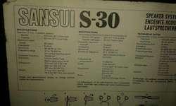 Bafles Sansui S30 Originales 55w 89db Excelent En San Isidro