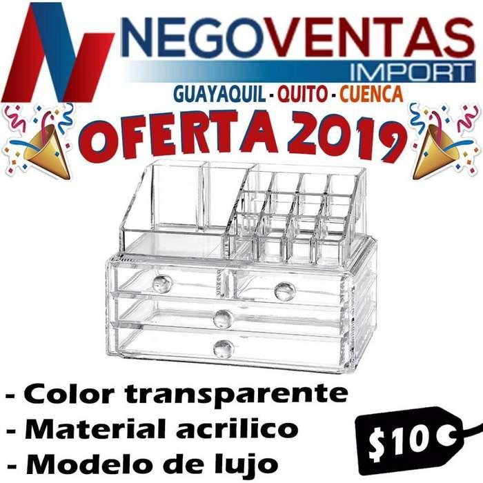 ORGANIZADOR DE MAQUILLAJES MATERIAL DE ACRILICO