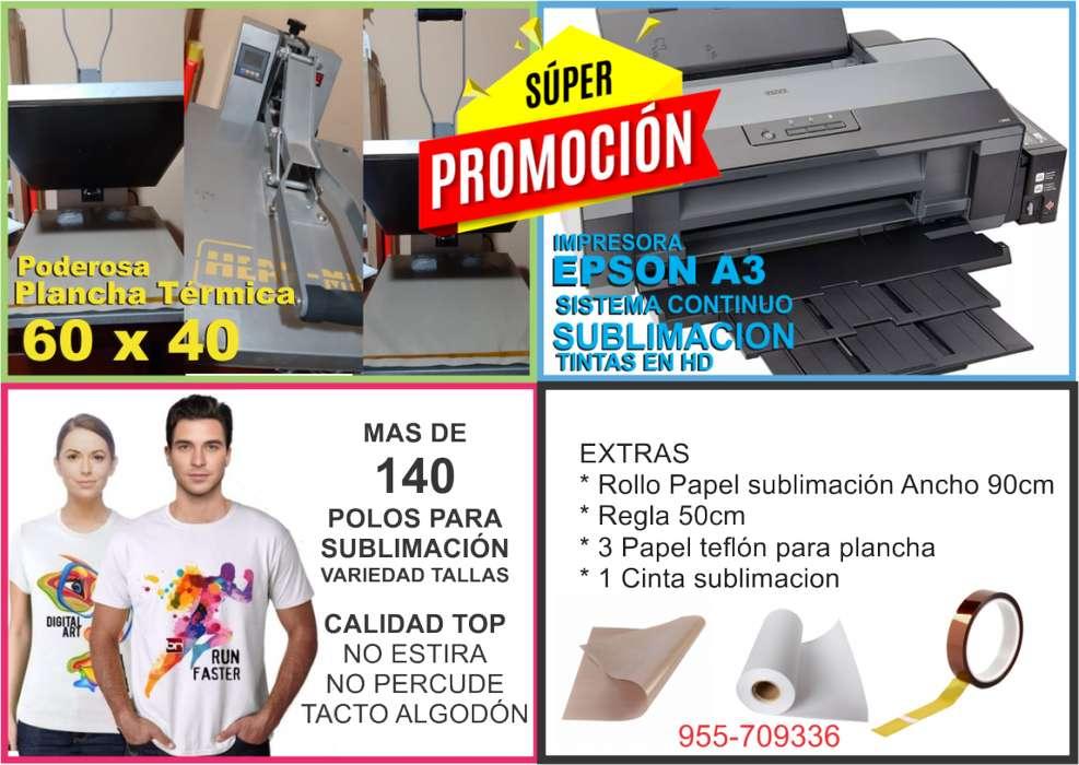 Remato Impresora Epson A3 Plancha Transfer 60x40 Y Más