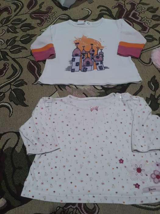 2 Remeras Talle 12 Meses