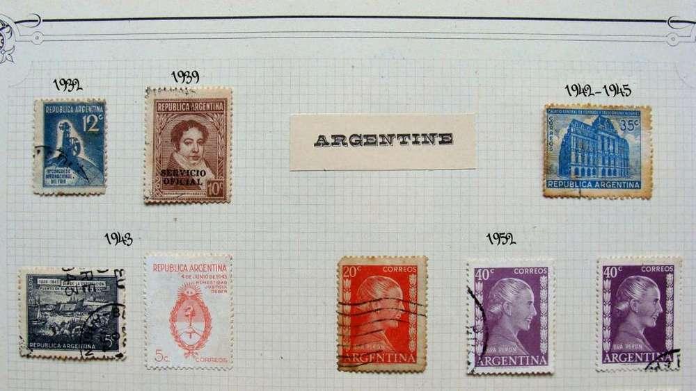 Sellos postales de Argentina años 1932 – 1979