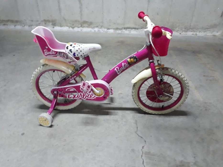 Bicicleta Barbie Aro 16 (usada)