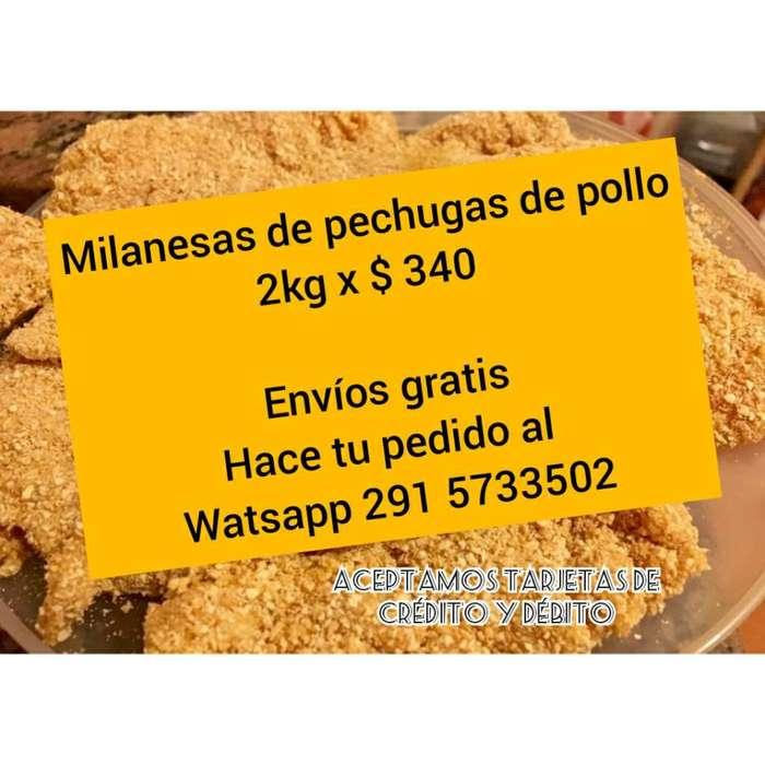 Milanesas de Pechugas