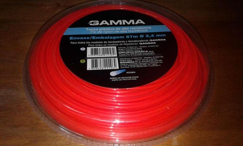 TANZA USO PROFESIONAL GAMMA DIÁMETRO 2,4mm 87 METROS DESMALEZADORAS