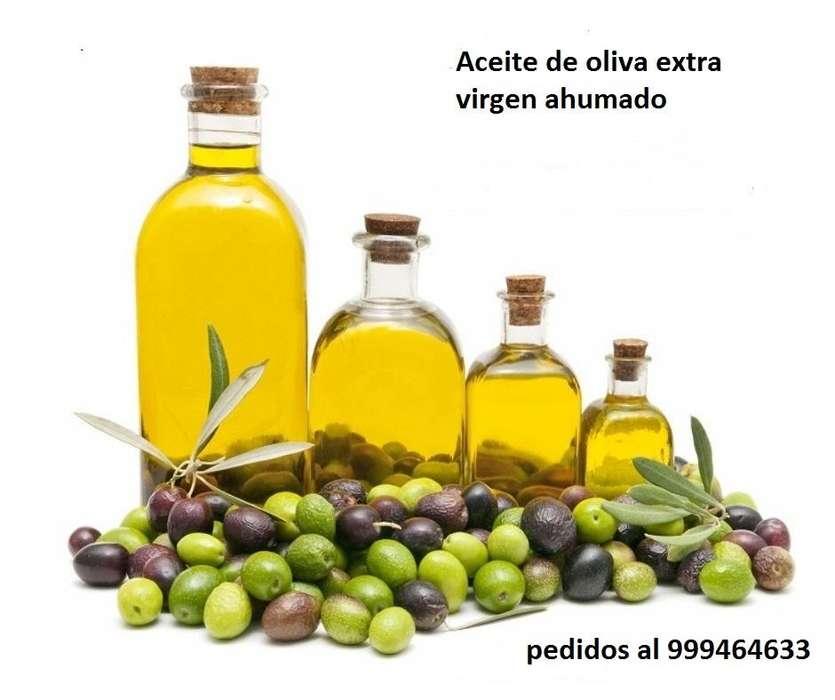 Aceite de oliva extra virgen con sabor a leña y/o ahumado