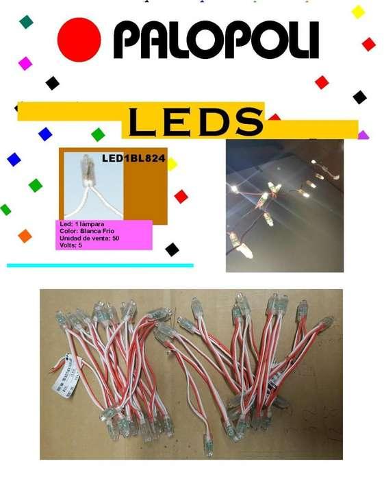 Luz Led Blanco Frio Para Uso Exterior 5v Unido tira de 20u PALOPOLI