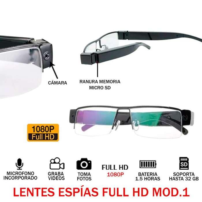 2a2169997d Lentes Espias Full Hd 1080p 32gb Audio Video Oculto 1.5h