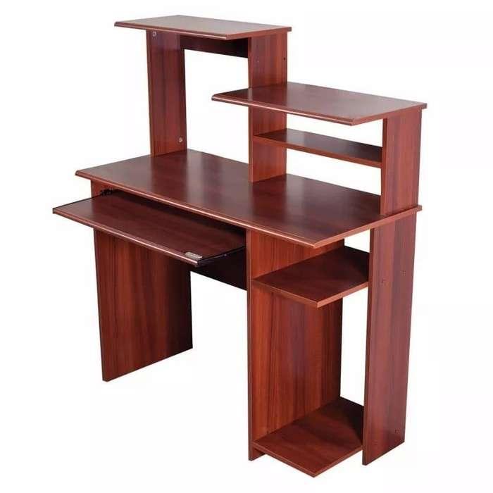 MESA <strong>escritorio</strong> CON ALZADA PARA PC