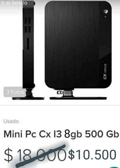 Mini Pc Cx I3 8gb 500gb