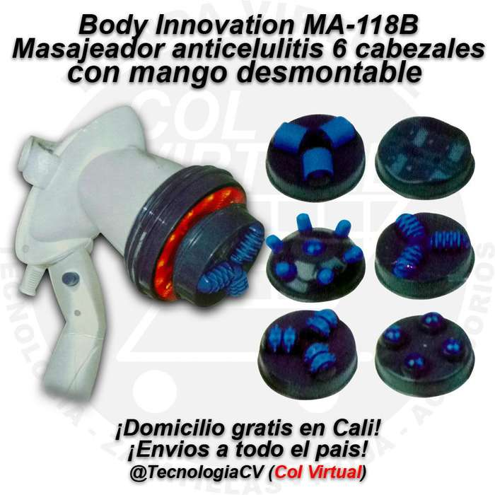Masajeador Largo Infrarrojo Anti Celulitis 6 en 1 Body Innovation MT5545 R0025