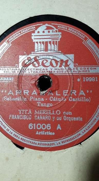 Discos De Pasta Antiguos 10 EN TOTAL 300 EL LOTE