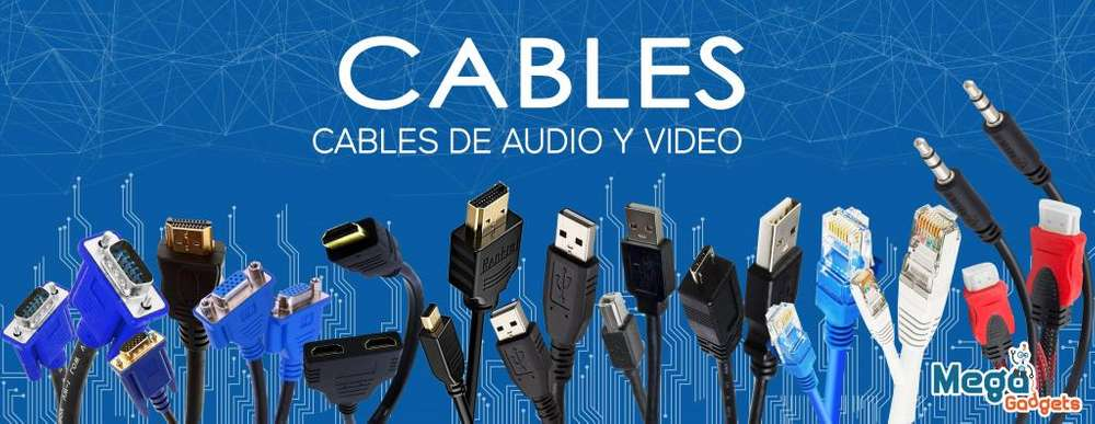 Cables Hdmi Vga Audio Adaptadores Video Usb Utp Red Monitor