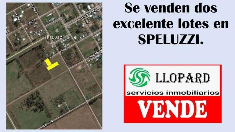 En Speluzzi se vende dos excelentes lotes en block o por separado
