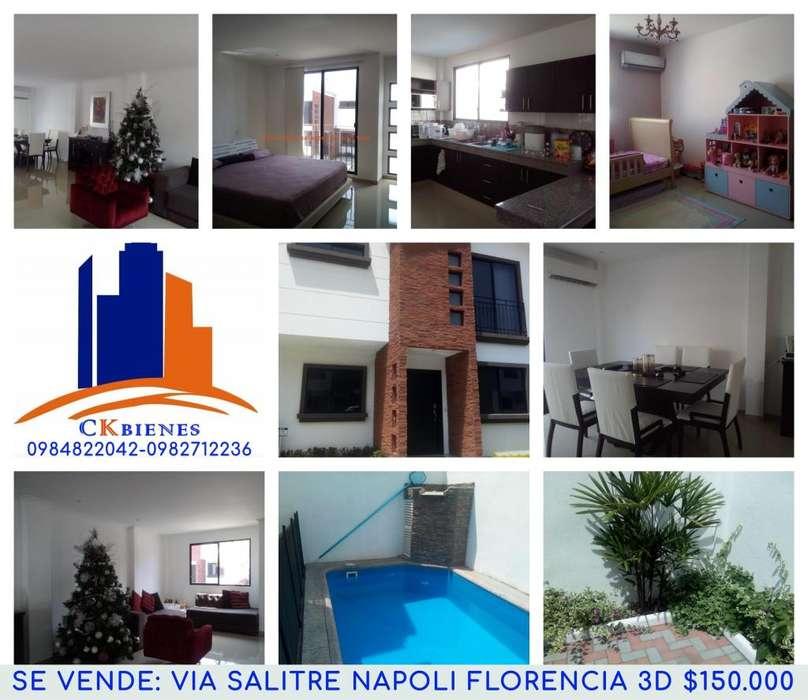 Se Vende Casa en Urbanización Napoli Via a Salitre Samborondon 150.000