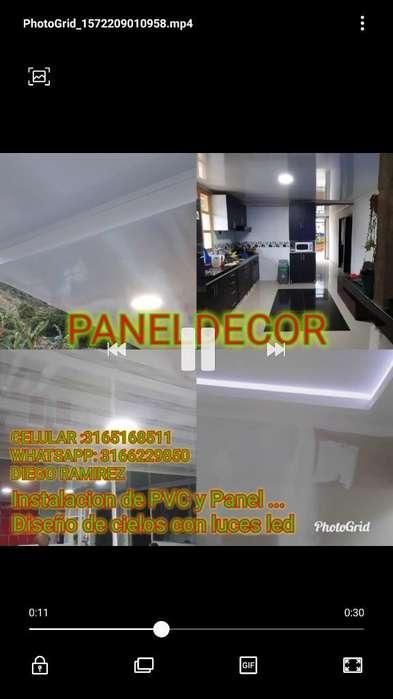 Instalacion de Cielos en Pvc Y Panel