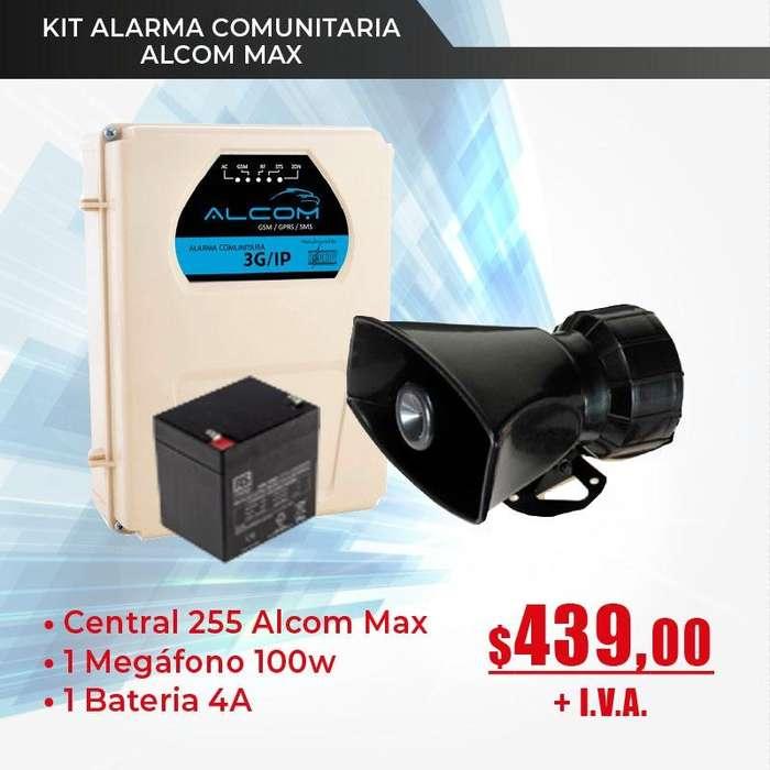 Alarma Comunitaria ALCOM MAX Alarmas -sirena -megafono -pulsador