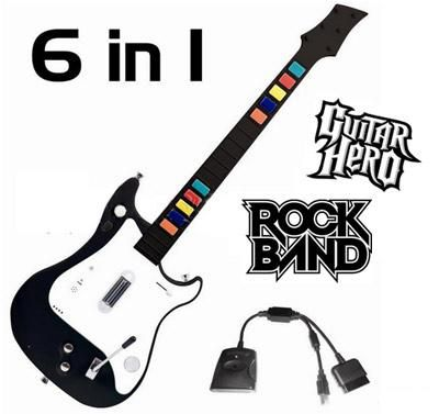 GUITARRAS INALAMBRICAS Ps2 ,Ps3, Pc,WI Guitar Hero Rock Band NUEVAS POR MAYOR Y MENOR