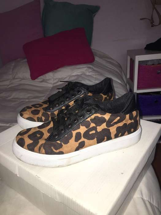 Zapatillas de Gamuza Animal Print