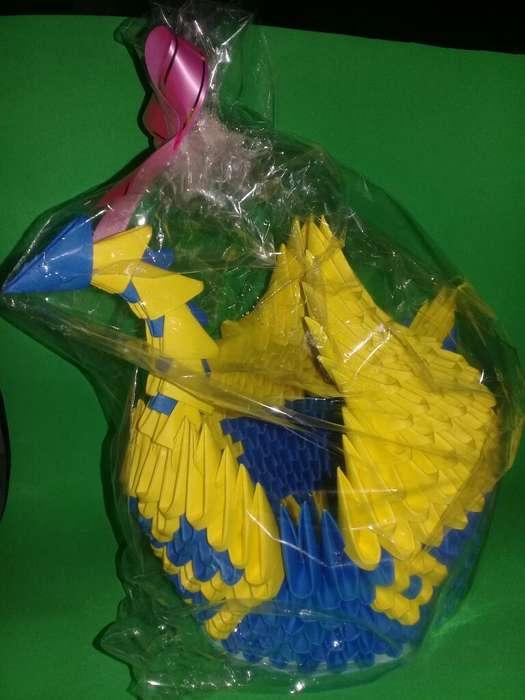 Vendo Cisne de Papel Mediano de Boca Jr.