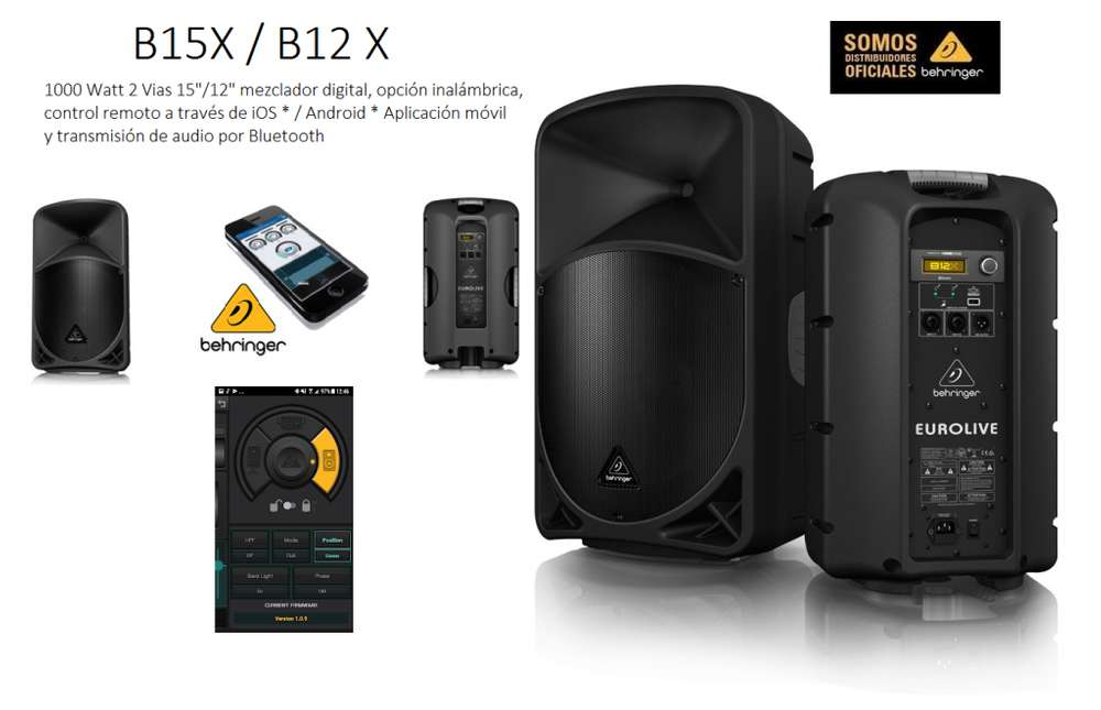B12X Bhernger con mezclador digital, aplicación móvil y transmisión de audio por Bluetooth