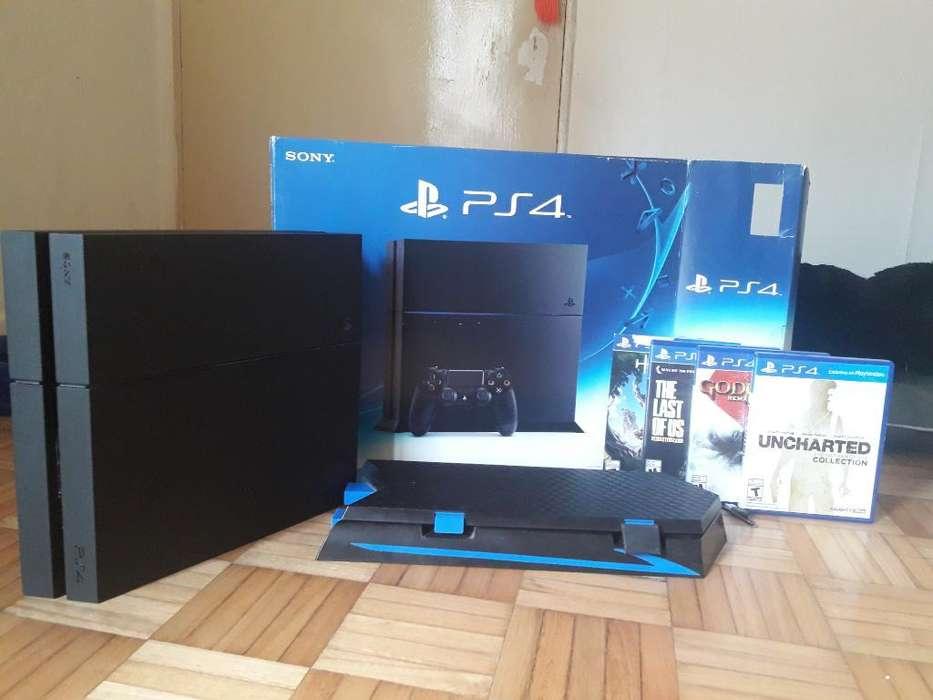 Playstation 4 4 Juegos Y Fan Cooler