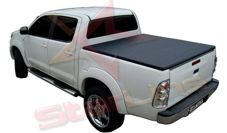 Carpa Plana Toyota Hilux Lona Enrollable Para Platon Camioneta Covertech Importada