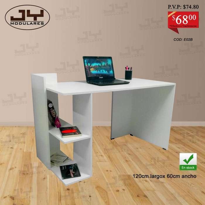 Escritorios modernos con librero, DESDE 58, mesa para PC o laptop, en stock, promocion
