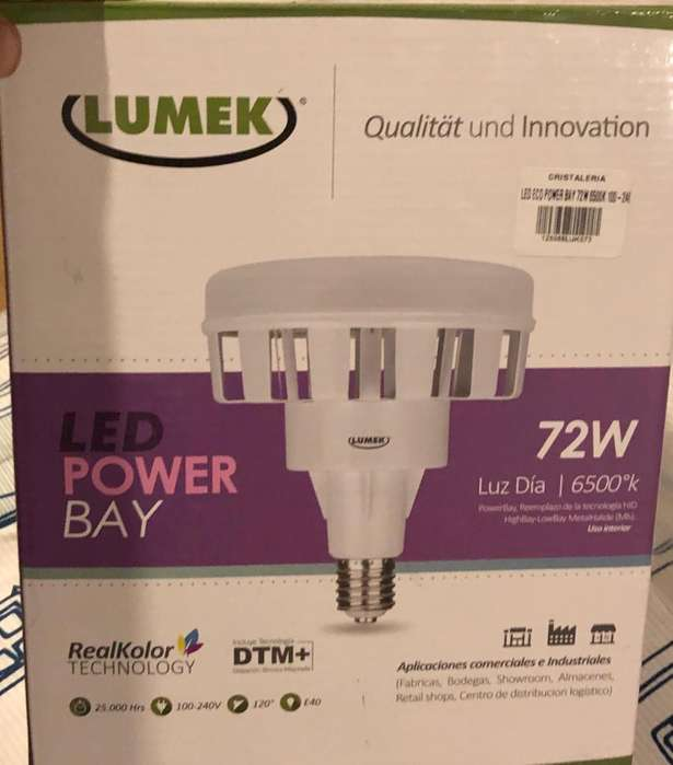 Lámpara Led Tipo <strong>campana</strong> Industrial 72W