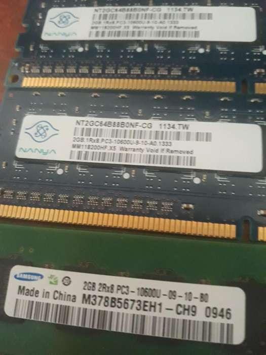 Memorias Ram Ddr3 2gb 1333mhz 3 Unidades