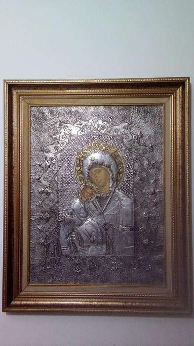 Cuadro Virgen. Medidas 58x75