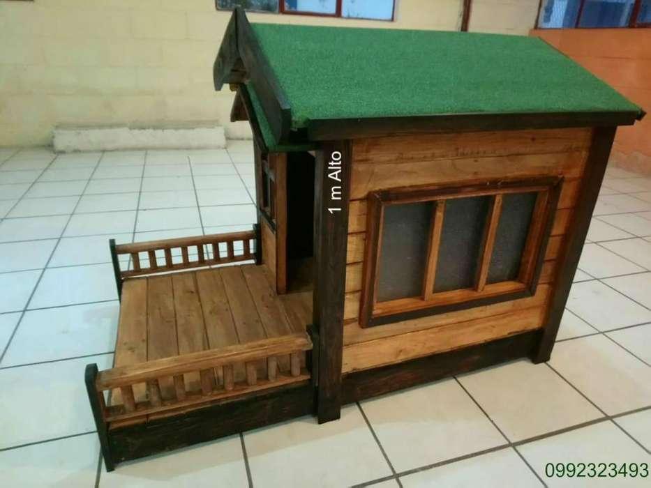 Casa de Madera para Perro Bajo pedido