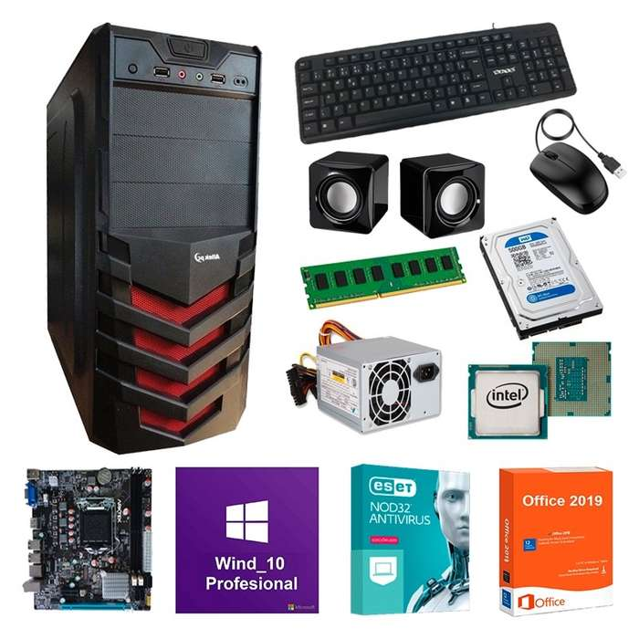 Computador Cpu Core_i3 500GB 4GB RAM MB Biostar Office 2019