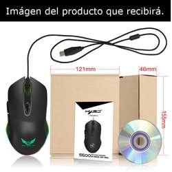 Mouse Gamer Diseño Led Rgb Full Color Marquet Efect 4800 Dpi
