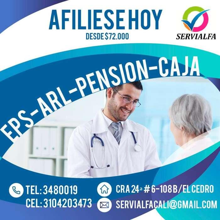 Afiliaciones a EPS, ARL, Pensión y Caja de Compensación Familiar