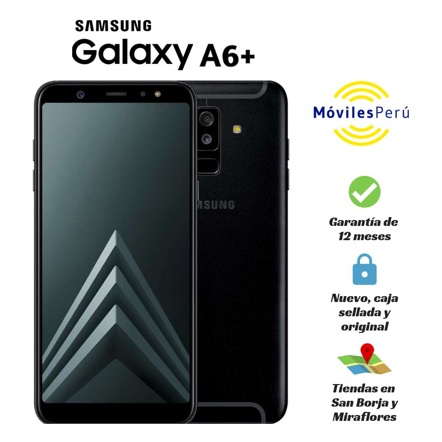 SAMSUNG GALAXY A6 PLUS 32 GB NUEVO, CAJA SELLADA, GARANTÍA DE 12 MESES, TIENDAS FÍSICAS