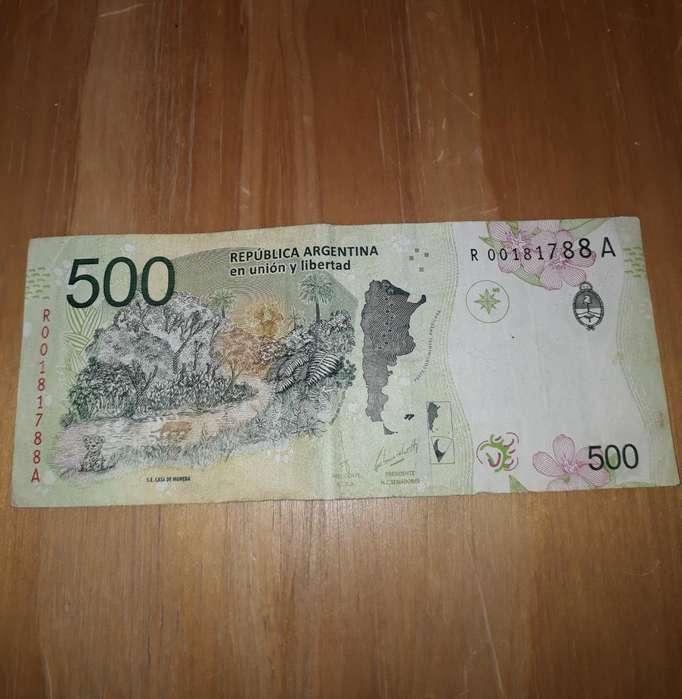 Billete de 500 en Reposición