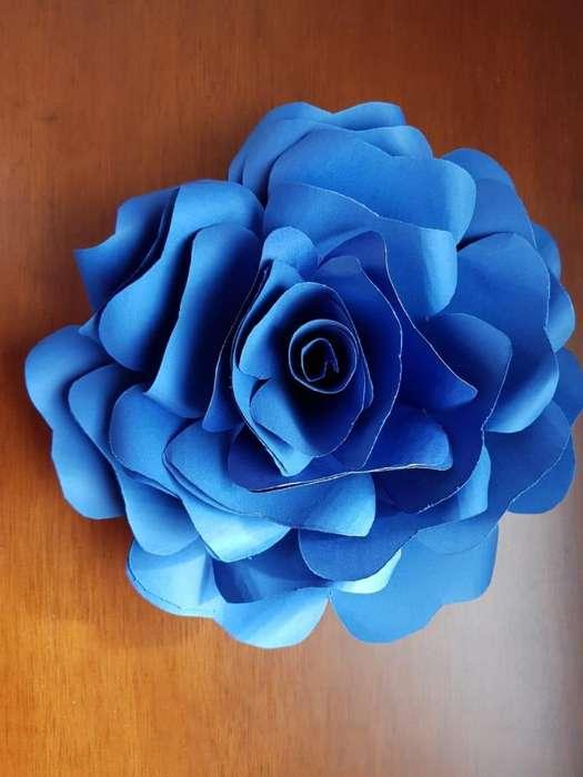 Flor de papel 25 cms diametro (Envio inmediato)
