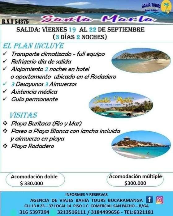 Tour Santa Marya Salidas 12 Y 19 Septiem