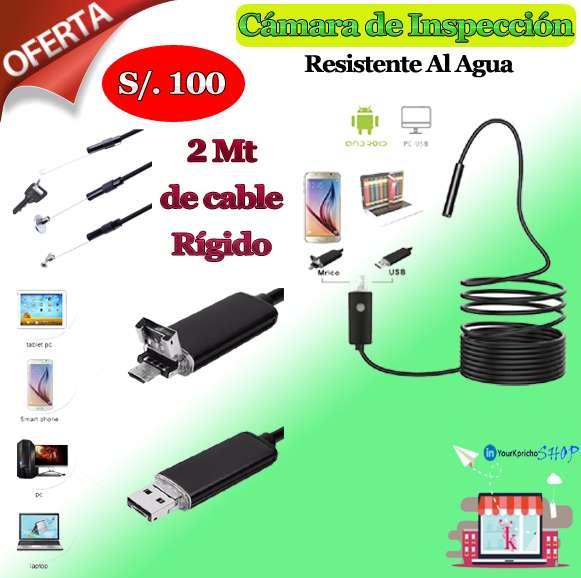 Cámara Endoscopia 2mts de cable para celular o laptop