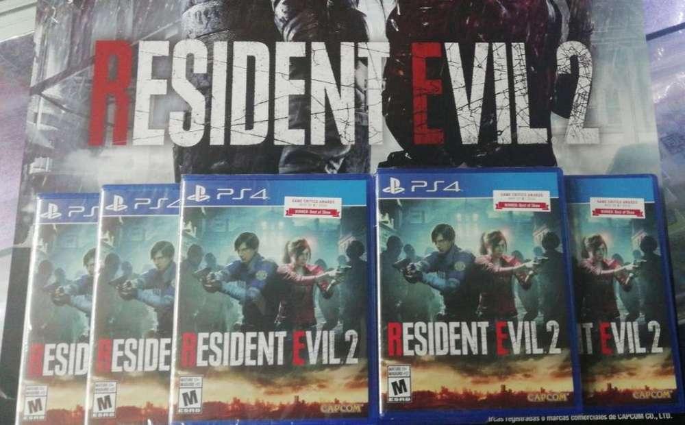 Resident Evil 2 Remake Ps4 Sellados