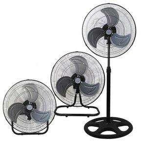 Ventilador Metálico Adaptable Oscilante 3 en 1 Piso Pared Mesa 3 Velocidades