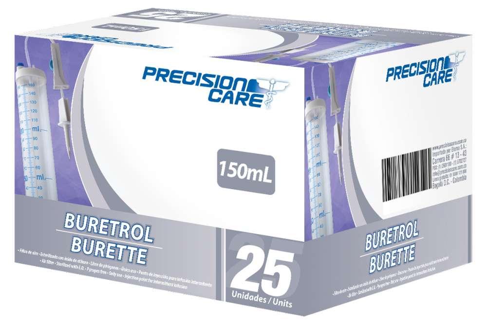 Buretrol 150 ML caja por 25 unidades.