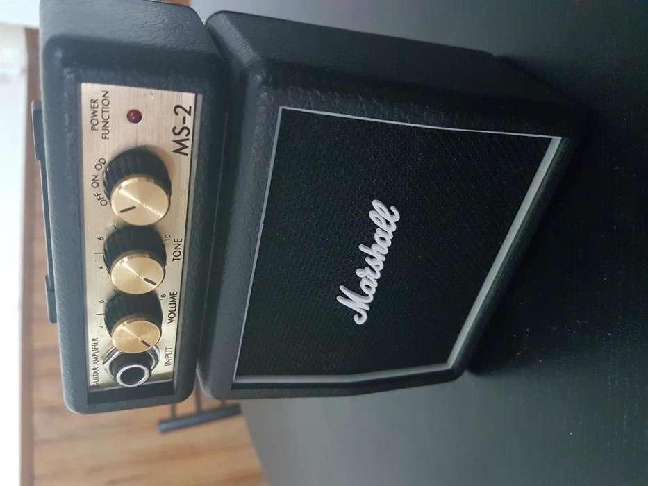 Mini Amplificador Guitarra Marshall Ms2 Distorsion Portatil
