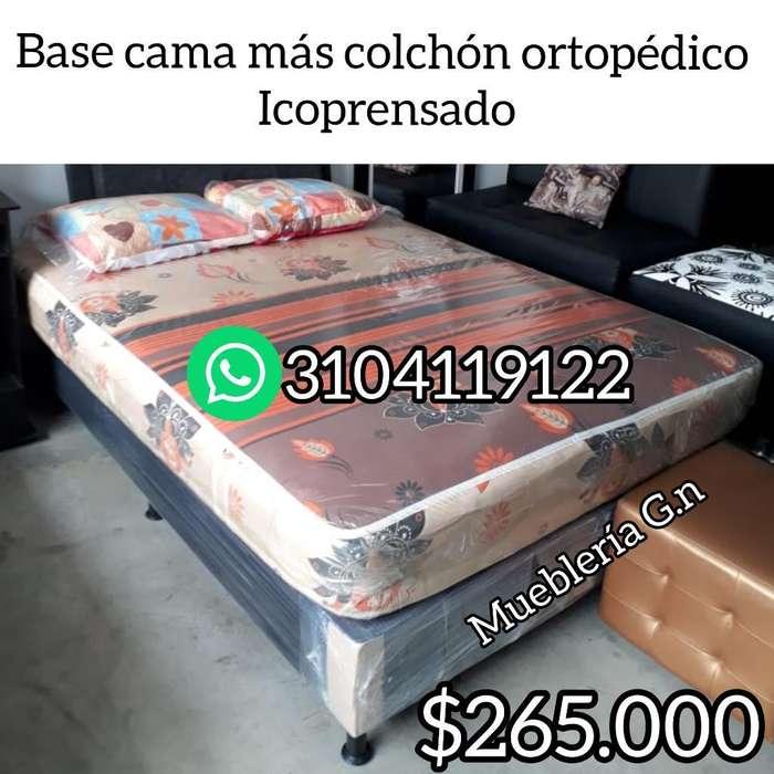 Base Mas Colchón Ortopédico Icoprensado