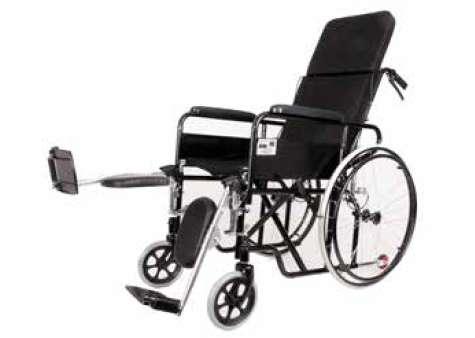 <strong>silla</strong> de ruedas reclinable en Acero pintado removible y reclinable llanta maciza