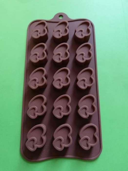 Moldes de Silicón para chocolates, jabón, <strong>vela</strong>s o multiuso