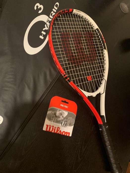 Raqueta De Tenis Wilson Federer 110, Funda Y Antivibradores!