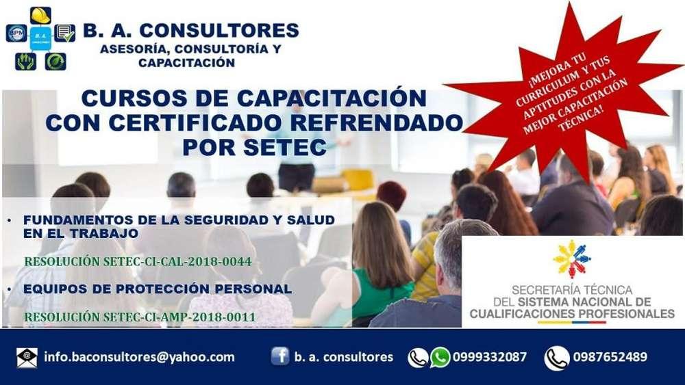 Cursos de Capacitación con Aval SETEC para empresas y público en general