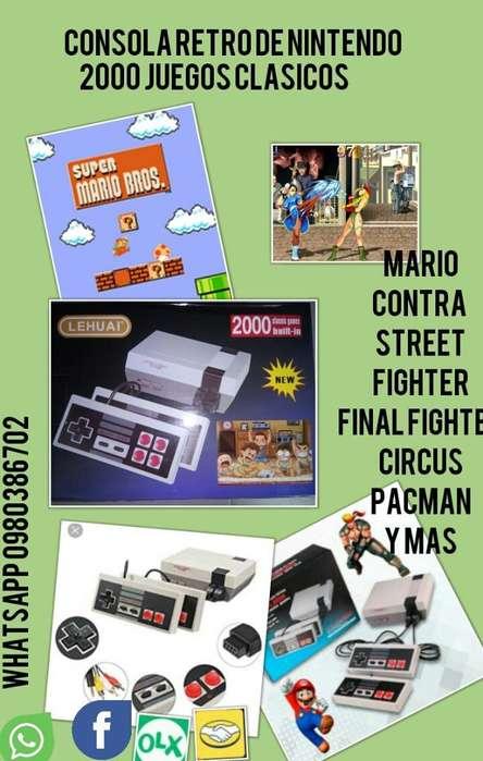 Mini Consola Retro 2000 Juegos Antiguos