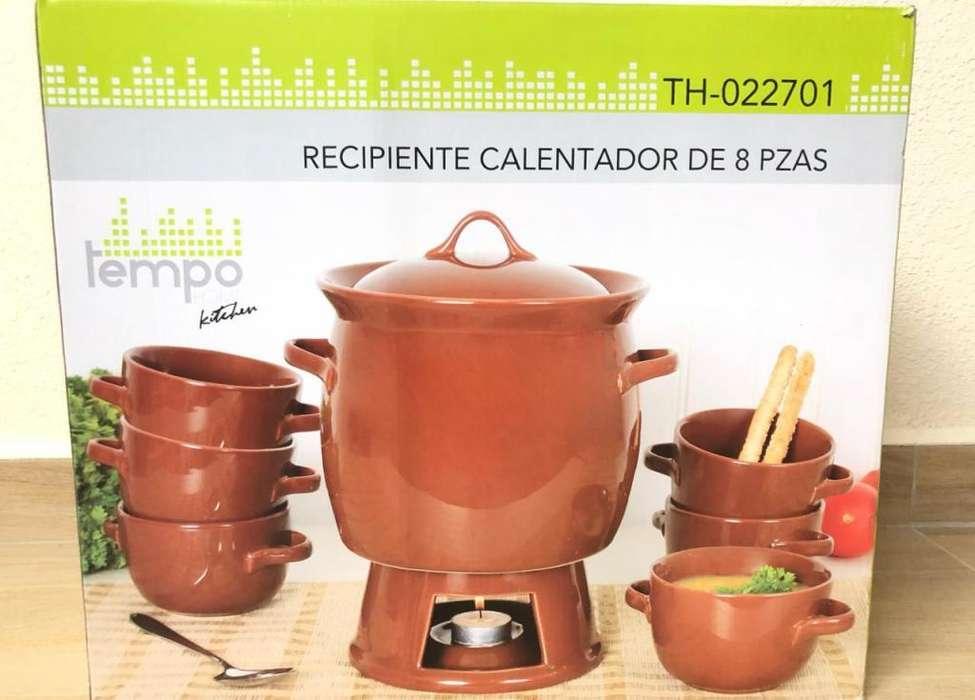 Calentador De Comida Tempo Th-022701, Set De 8 Pieza